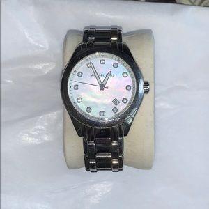 Michael Kors silver watch.